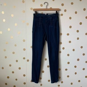 Urban Outfitters Ecote Hi Rise Zip Back Jeggings